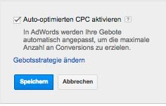 auto optimierter cpc adwords